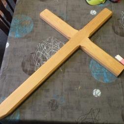 Vue de la croix moulurée