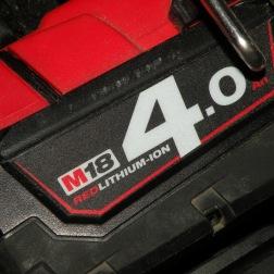 La batterie - 18 Volts pour 4 Ah.