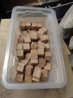 Les cubes avec les arrêtes vives